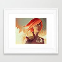 borderlands Framed Art Prints featuring Borderlands - Lilith by BEN Olive