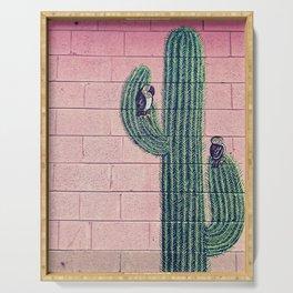 Cactus graffiti Serving Tray