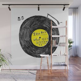 you are what you listen to, YELLOW Wall Mural