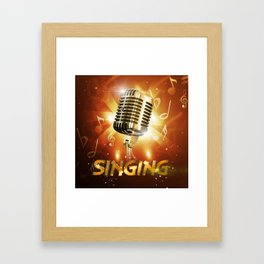 Singing to the whole world Framed Art Print