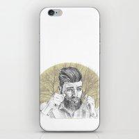 beard iPhone & iPod Skins featuring beard by mirart
