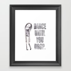 Dance dance dance Framed Art Print