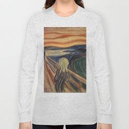 The Scream, Edvard Munch, classic painting Long Sleeve T-shirt