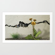 Between the Cracks Art Print