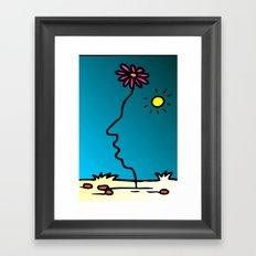 Flower face, Framed Art Print