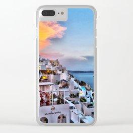 Santorini 8 Clear iPhone Case