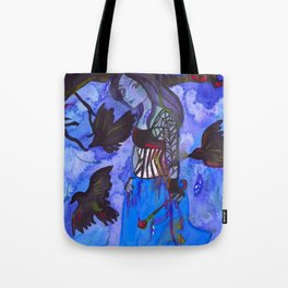Ravenwitch - Shades of Blue Tote Bag