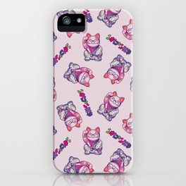 Maneki Neko Cotton iPhone Case