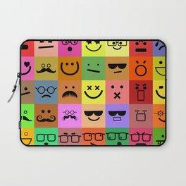 Square Emoji Faces Laptop Sleeve