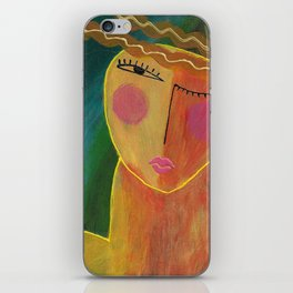 Abstract Acrylic Portrait of a Woman iPhone Skin