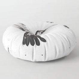 Humming Bird & Flower Floor Pillow