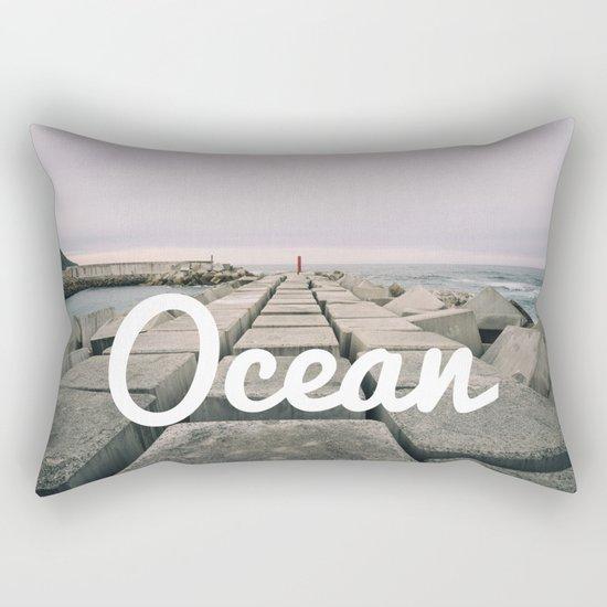 The seawall Rectangular Pillow