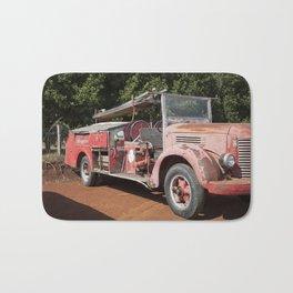Old Fire Truck Bath Mat