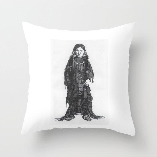 Indian Boy Throw Pillow