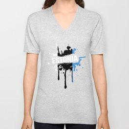 Nice Estonia T Shirt Men Unisex V-Neck