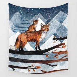 Fox Wood Wall Tapestry