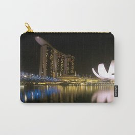 Night photograph of the Marina Bay Sands Hotel in Singapore Carry-All Pouch