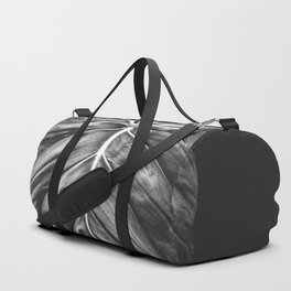 Monstera Deliciosa Black and White Duffle Bag
