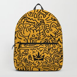 """Uptown Growlab """"Calm in the Chaos"""" Cannabis Crown Print  Backpack"""