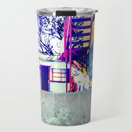 Two Cats on a Wall 2 Travel Mug