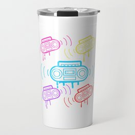 Here's A Great 80's design A Colorful 80's Design Saying Cassette T-shirt Design Vitage Retro Travel Mug