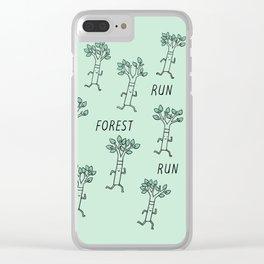 Run Forest Run Clear iPhone Case