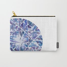 Blue Purple Round Gem Carry-All Pouch