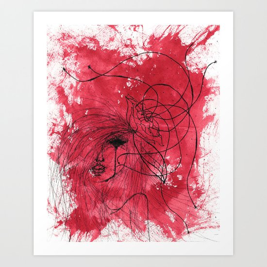 The Mean Reds Art Print
