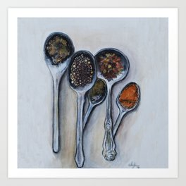 Spoons & Spices Art Print