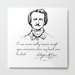 Photo Edgar Allan Poe Metal Print