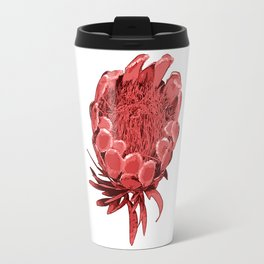 Australian Native Floral Illustration - Beautiful Protea Flower Travel Mug