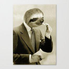 Gentleman Sloth 9# Canvas Print