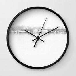 ice cold fishing Wall Clock