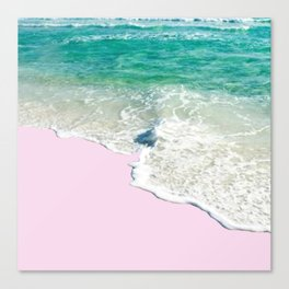 Pink Sand & Blue Sea Bliss Canvas Print