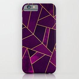 Purple Stone iPhone Case