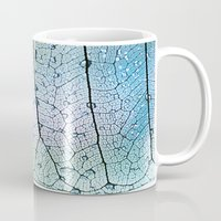 aqua Mugs featuring aqua by Ingrid Beddoes