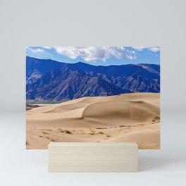 Sand dunes in Tibet Mini Art Print