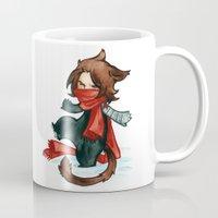 bucky Mugs featuring winter - bucky by noCek