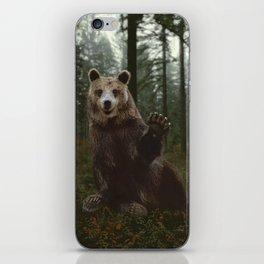 Bear Waving Hello iPhone Skin