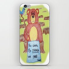 Sad bear & friend iPhone & iPod Skin