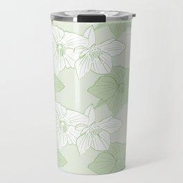 Green Hellebores Travel Mug