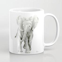 Baby Elephant Watercolor Coffee Mug