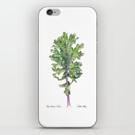 Red Russian Kale iPhone Skin