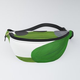 Mid Century Vintage 70's Design Abstract Minimalist Colorful Pop Art Olive Green Dark Green Grey Fanny Pack