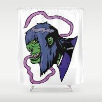 xmen Shower Curtains featuring x4 by jason st paul