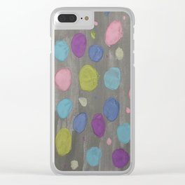 Pastel Bubbles Abstract Clear iPhone Case