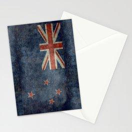 New Zealand Flag - Grungy retro style Stationery Cards