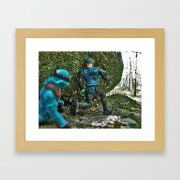 Taking Cover Framed Art Print