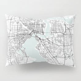 Jacksonville Florida Blue Water Street Map Pillow Sham