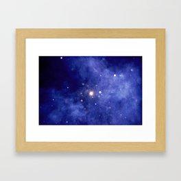 Purple Night Sky Framed Art Print